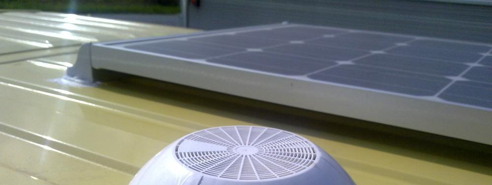 Pannello Solare Da Finestra : Montaggio pannello solare su furgonato pagina i